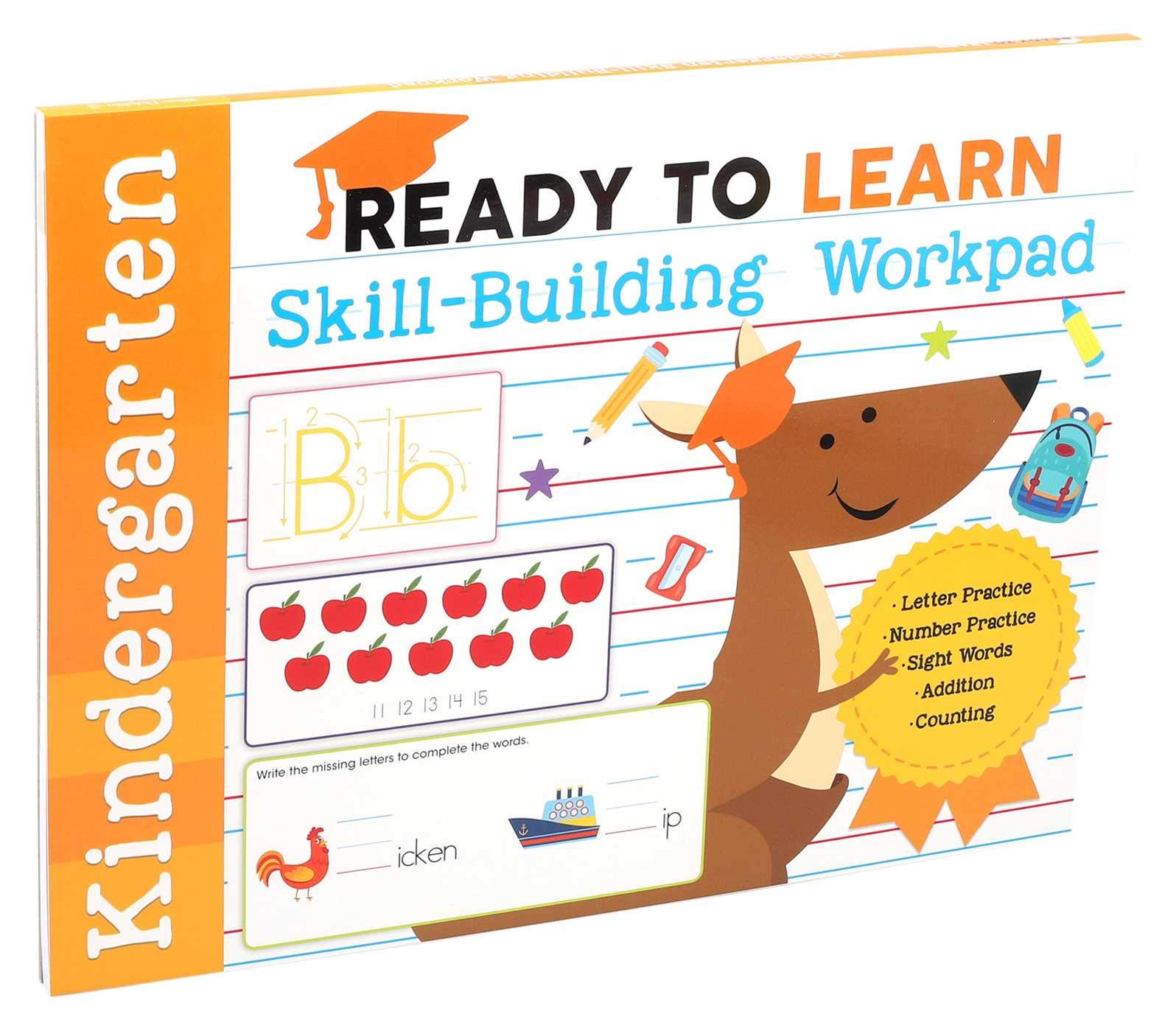 Ready To Learn Kindergarten Skill Building Workpad Letter Practice Number Practice Sight Words Addition Counting Editors Of Silver Dolphin Books 9781645173328 Amazon Com Books