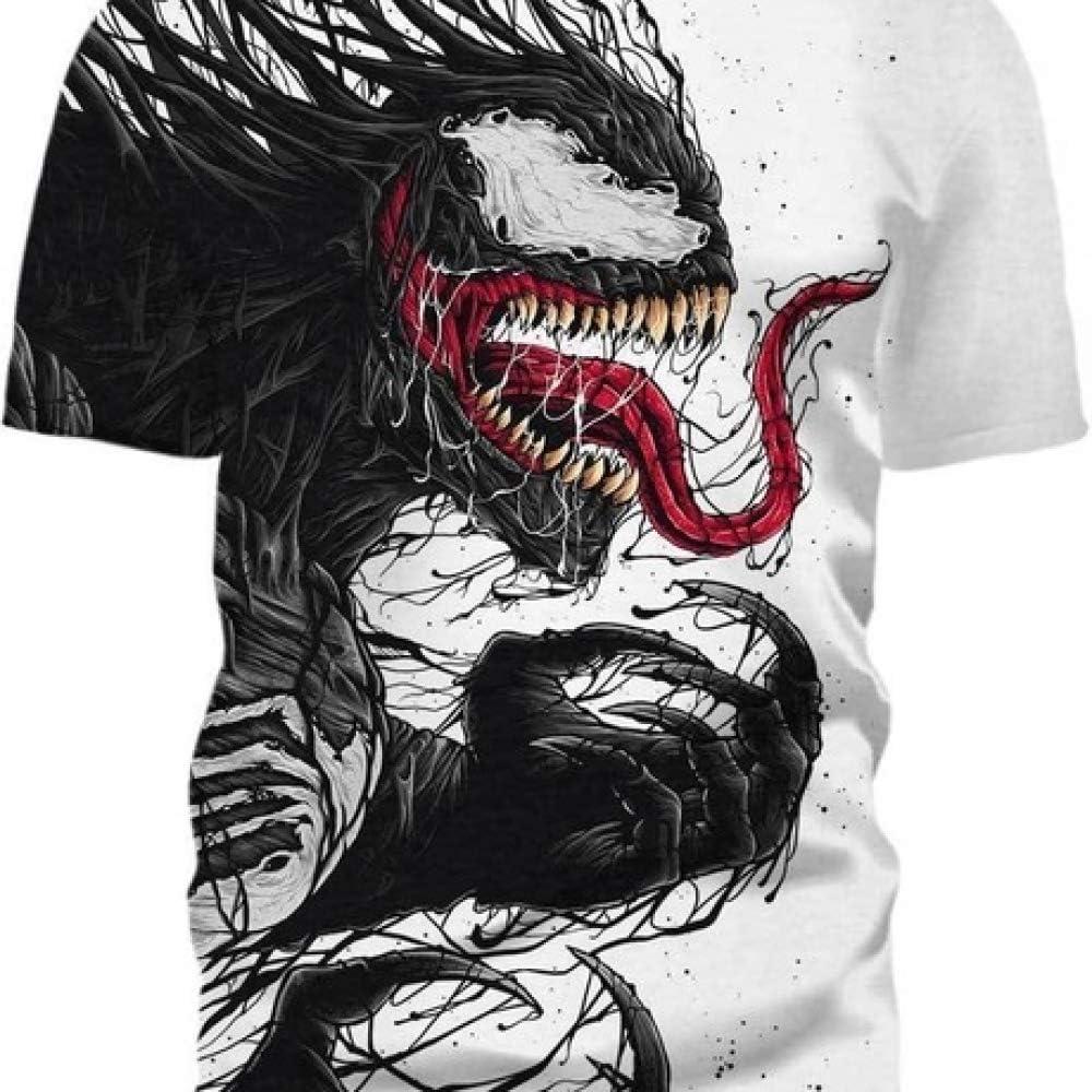 Shirt Summer Casual Print Long Tongue Devil Sleeve