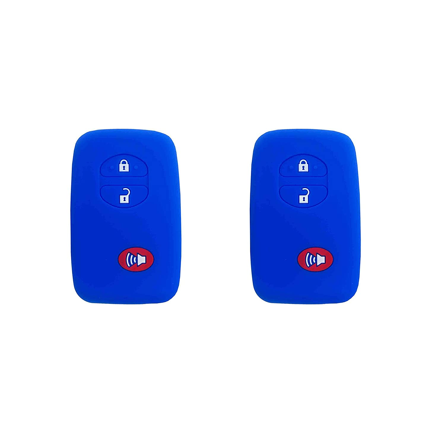 Black+Red 1 Pair BAR Autotech Remote Key Silicone Rubber Keyless Entry Shell Case Fob and Key Skin Cover fit for Toyota 4runner Venza Avalon Land Cruiser Camry Prius