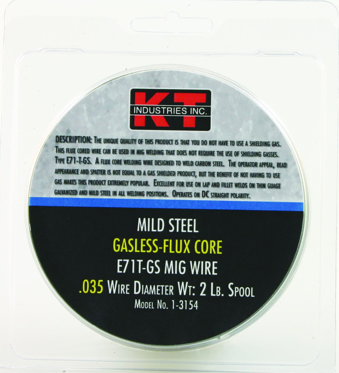 K-T Industries 0.035 Flux Core Mig Wire, 2-pound