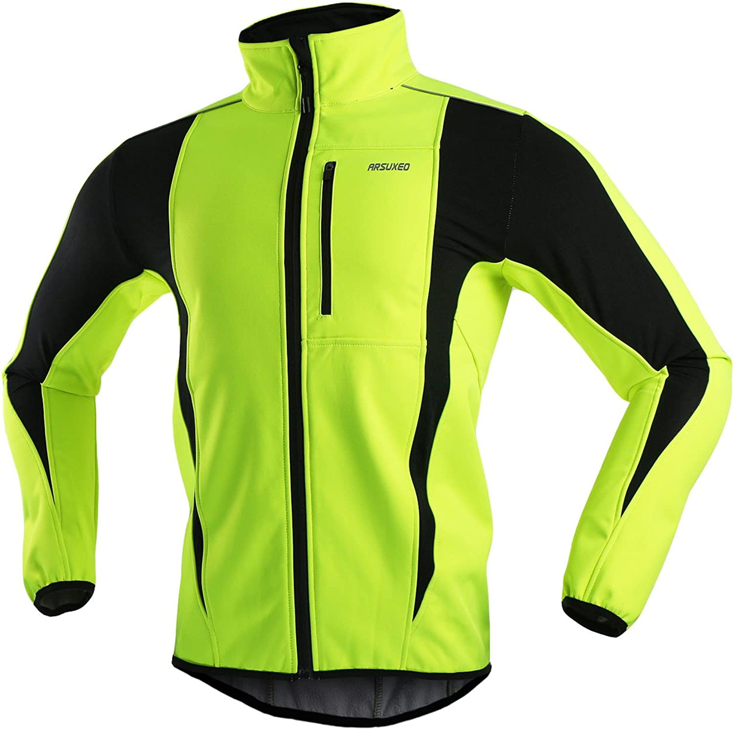 ARSUXEO Winter Warm UP Thermal Softshell Cycling Jacket Windproof Waterproof 15-k: Clothing