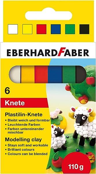 Eberhard Faber 572006 - Plastilina Arcilla de modelar en la Caja de cartón 6, Multicolor: Amazon.es: Juguetes y juegos