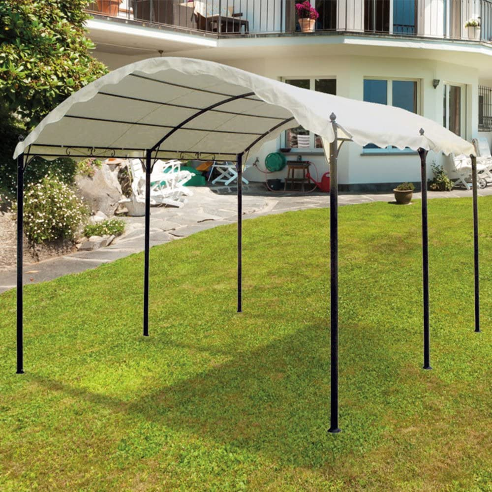 Cenador, pérgola de jardín de hierro, de 3 x 4 m, lona, cubierta ...