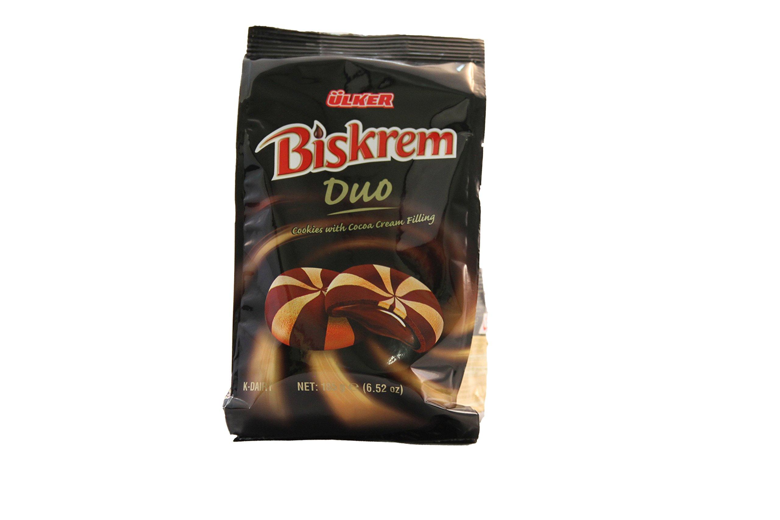 Ulker Biskrem Duo Cookies with Cocoa Cream Fiiling 185g