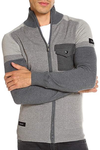 para Hombre del Puente de Cuello de Embudo Media Cremallera de algodón géneros de Punto del suéter de Kensington Molde: Amazon.es: Ropa y accesorios