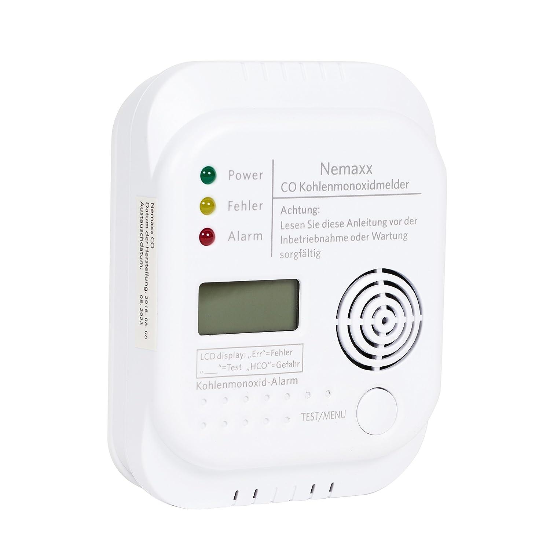 Nemaxx - Detector de CO, Monóxido de Carbono Detector de Gas Alarma de Gas Monóxido de Carbono Según la Norma DIN EN50291, Pack DE 10: Amazon.es: Bricolaje ...