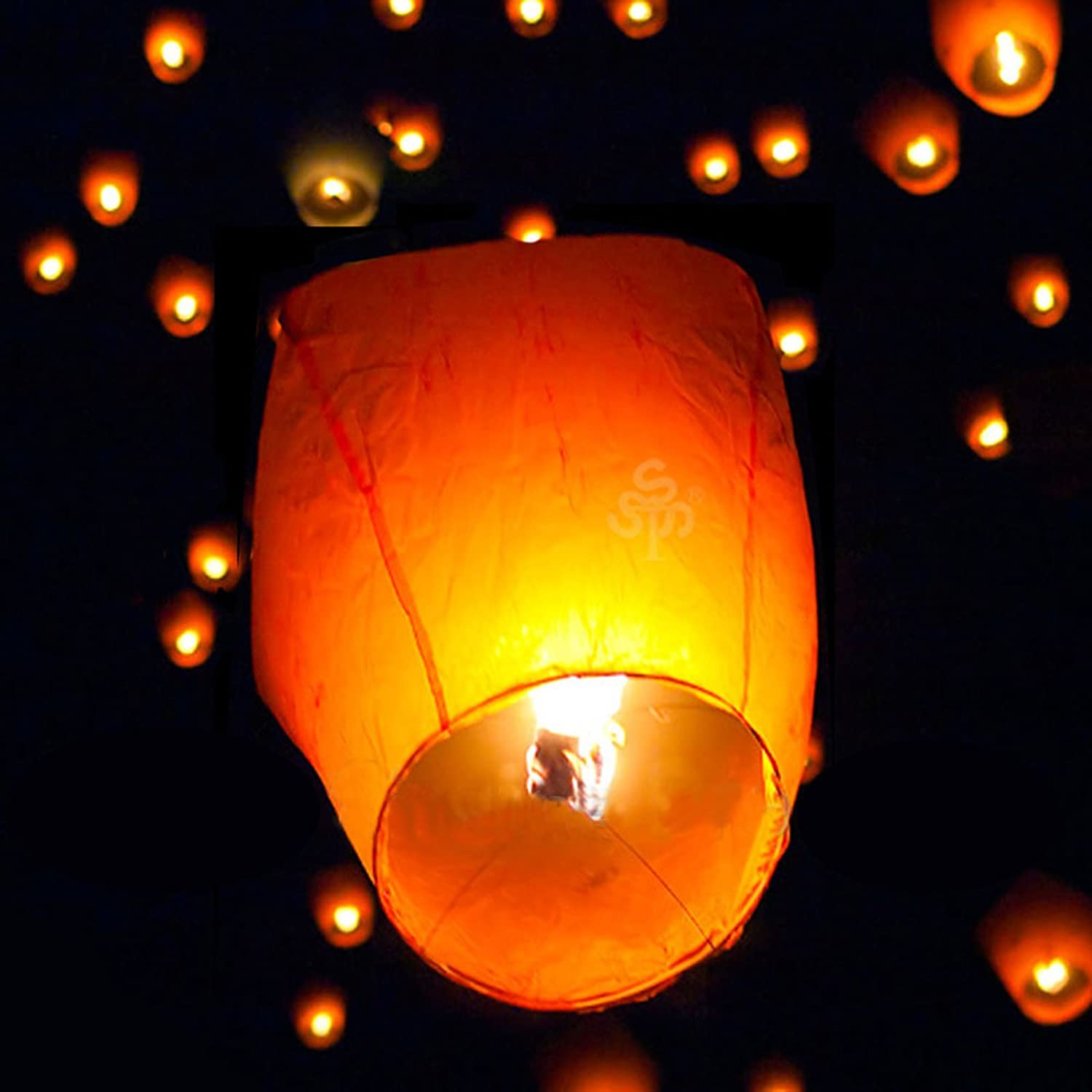 Amazon.com : 50 Small Size Fire Sky Chinese Paper Kongming White ... for Flying Lantern Lights  166kxo