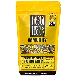 Tiesta Tea Chocolate Ginger Turmeric Spiced Cocoa Rooibos Tea, 30 Servings, 2 Ounce Pouch, Caffeine Free, Loose Leaf Herbal Tea Immunity Blend, Non-GMO
