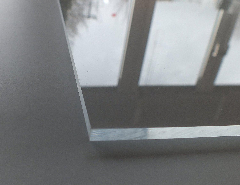 Cuadros Lifestyle Acrylglas PMMA XT UV best/ändig 4 mm stark transparent glasklar beidseitig foliert im Zuschnitt Gr/ö/ße:50x20 cm