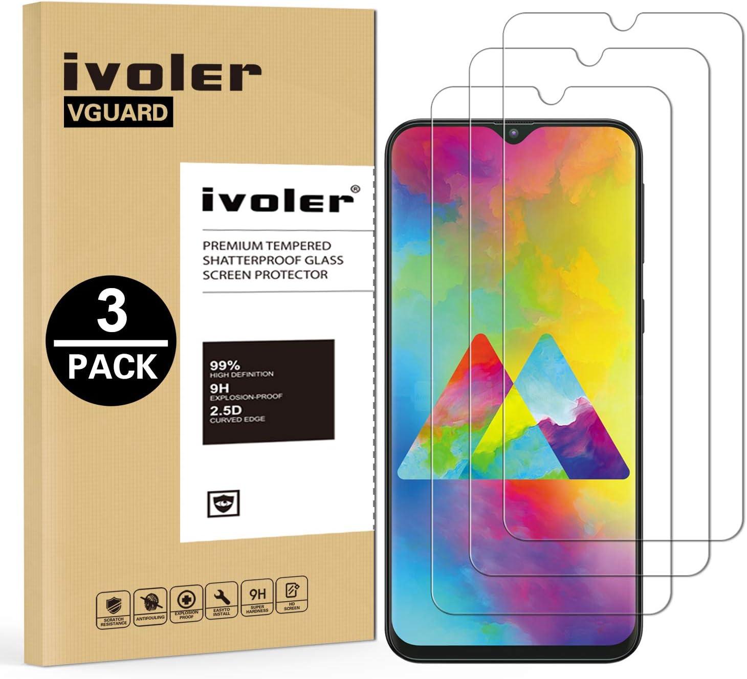 VGUARD [3 Unidades] Protector de Pantalla para Samsung Galaxy M20, Cristal Vidrio Templado Premium para Samsung Galaxy M20: Amazon.es: Electrónica