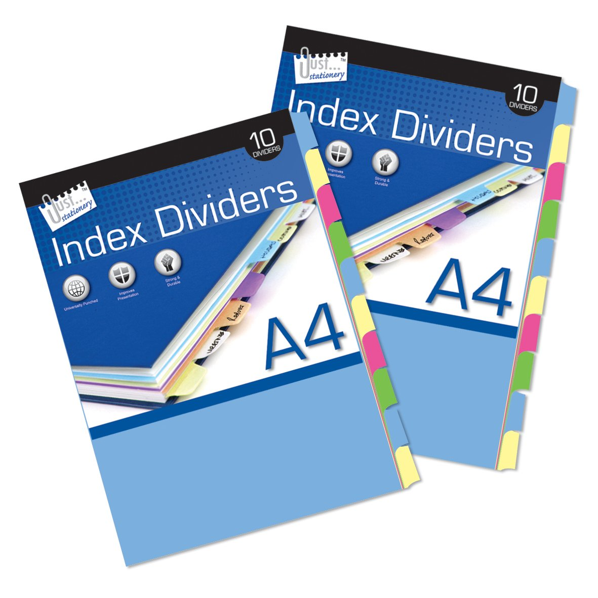 Just Stationery 10 A4 Paper Index Divider Tallon International Ltd 4051/72