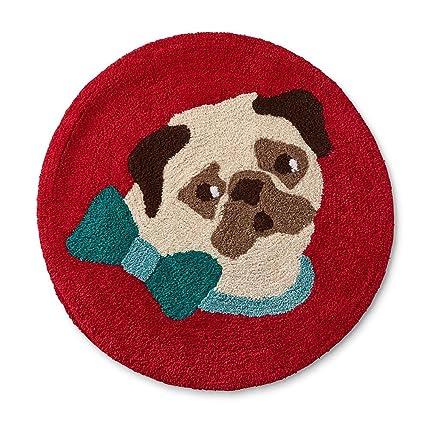 Cañón vacaciones colección de baño alfombra cortina de toalla perro impresión