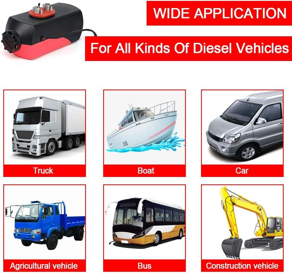 Tourenwagen Auto Vogvigo Luftdieselheizung 12V 5KW Dieselheizung mit LCD-Monitor 10L Luftparkheizung f/ür LKW Wohnwagen Wohnmobile Bus Van Wohnmobile