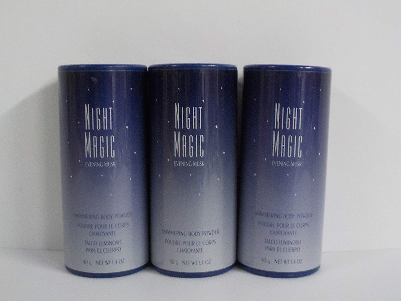 Avon Night Magic Shimmering Body Powder 1.4 Oz. (Lot of 3)