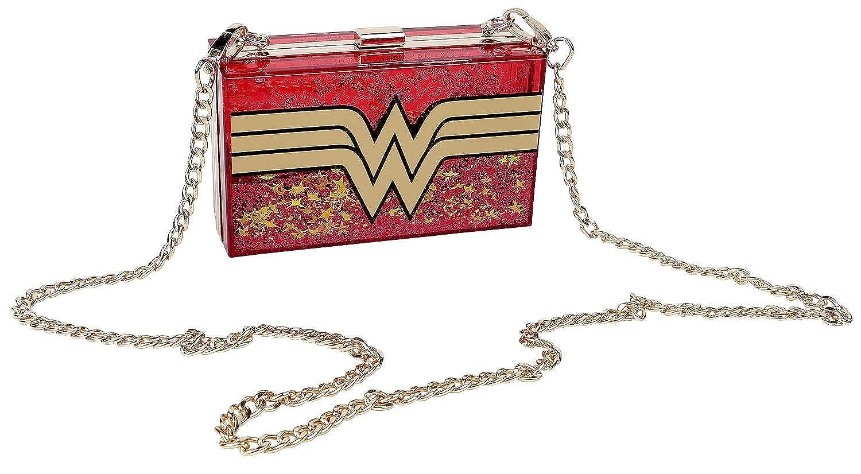 DC Comics Wonder Woman Glitter Perspex Clutch Bag (Red)