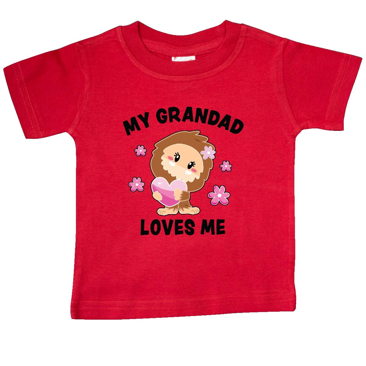 inktastic My Grandad Loves Me with Bigfoot Baby T-Shirt