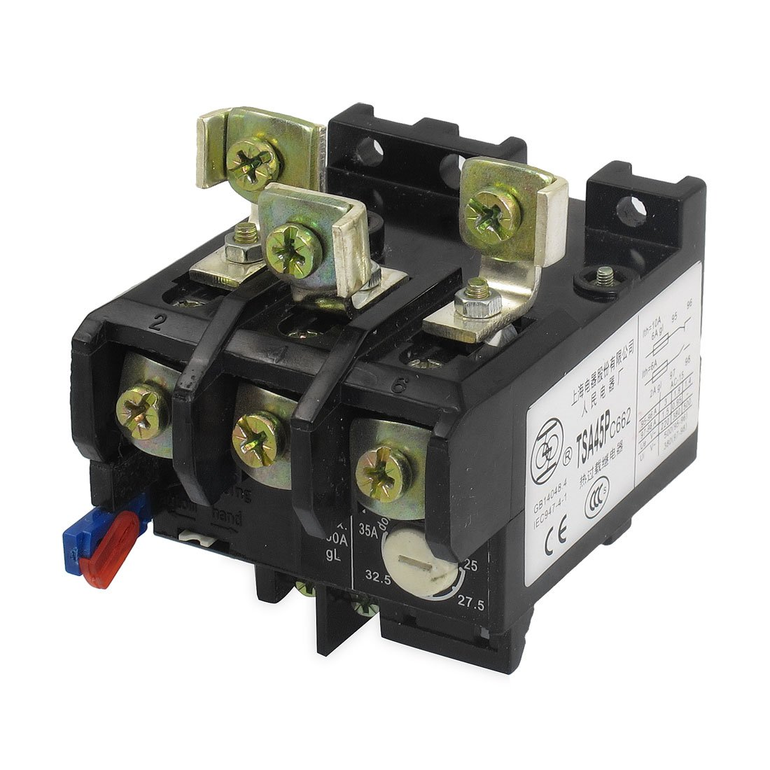 uxcell 25-35A Adjustable 3 Poles 1NO 1NC Thermal Overload Relay
