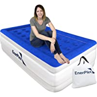 EnerPlex Never-Leak Twin Air Mattress with Built in Pump Raised Luxury Twin Airbed Double High Twin Inflatable Bed Blow…