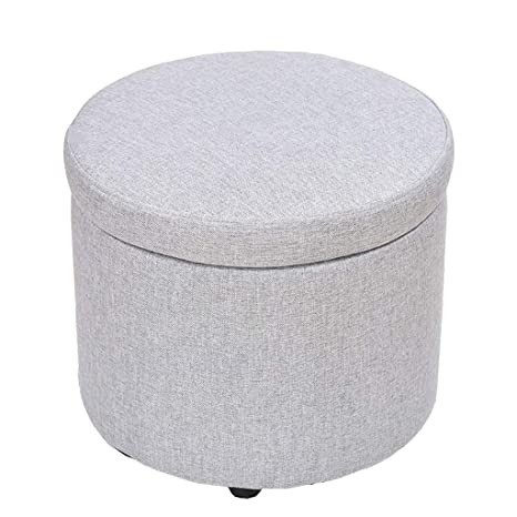 Pleasant Amazon Com Qqxx Ottomans Home Furniture Round Storage Box Gmtry Best Dining Table And Chair Ideas Images Gmtryco