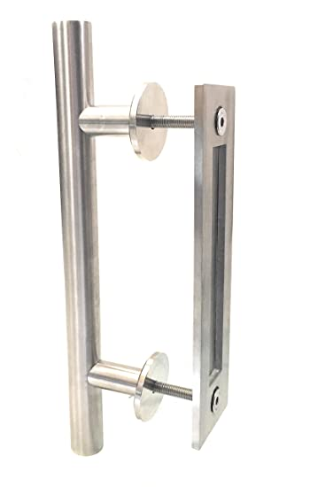 barn door handles and pulls exterior hardware amazon stainless steel silver handle pull two side for stanley lowes