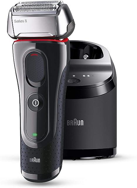 Braun Máquina de afeitar Rasierer 5-5050cc + 2 Reinigungskartuschen, negro: Amazon.es: Salud y cuidado personal