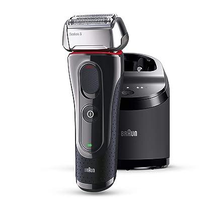 Braun Máquina de afeitar Rasierer 5-5050cc + 1 cartucho de limpieza, negro