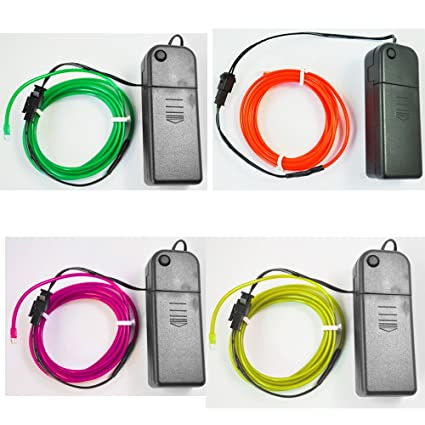 Amazon.com: Neon Glowing Strobing Electroluminescent Wires (El Wire ...