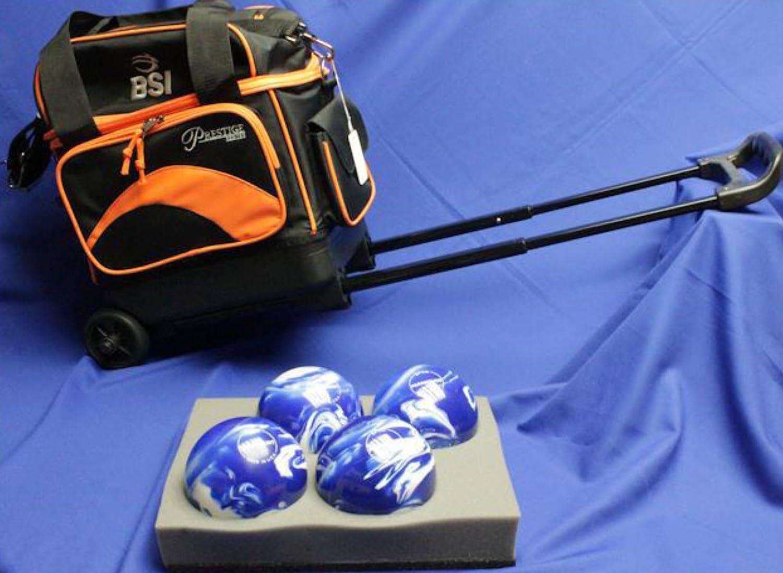 信頼 BSIローラーボーリングボールバッグ – – 4ボール 4ボール – – ブラック&オレンジ B01BS7G4CG, 豊岡市:342e5db1 --- ciadaterra.com