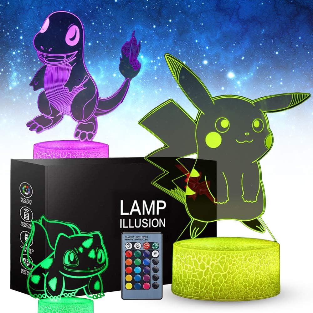 3D Pikachu Toys Night Light