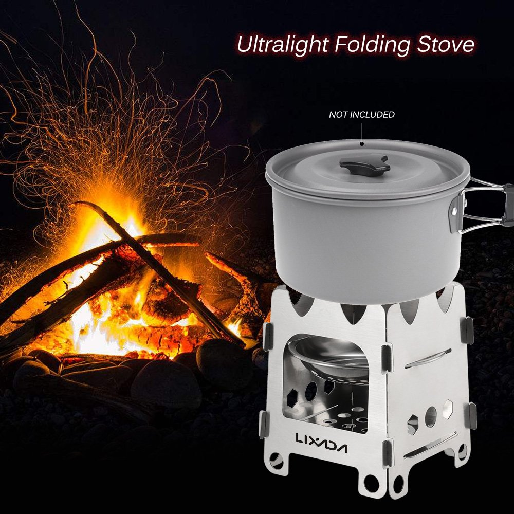 Amazon.com: Lixada Outdoor Stainless Steel Camping Stove ...