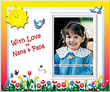 Amazoncom With Love To Nana Papa Picture Frame Gift Baby