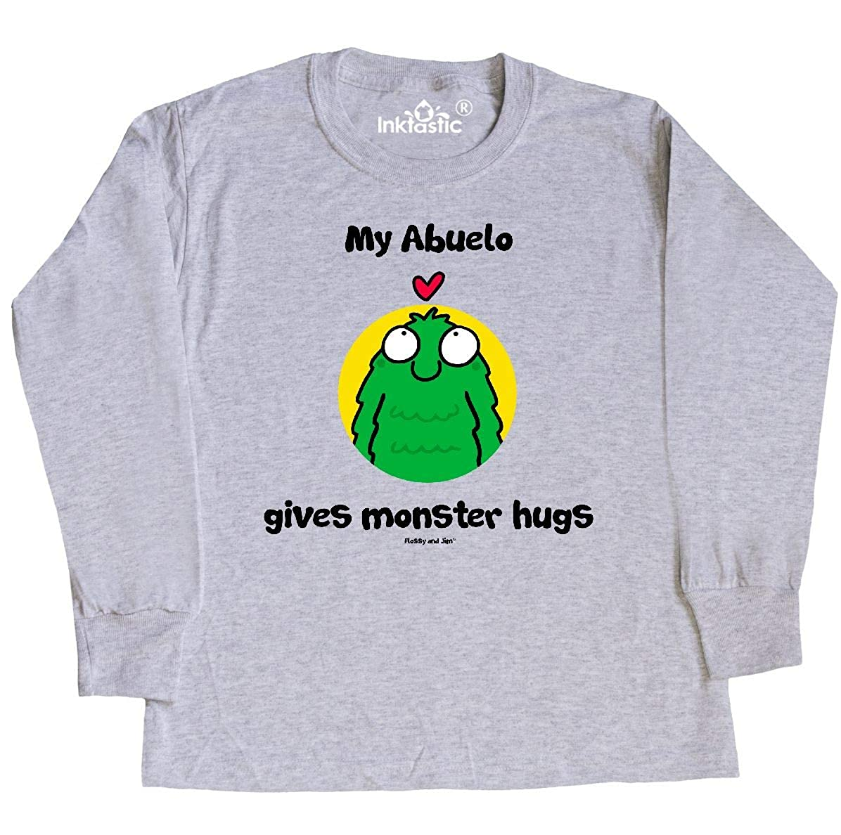 Amazon.com: inktastic Abuelo Gives Monster Hugs Youth Long ...