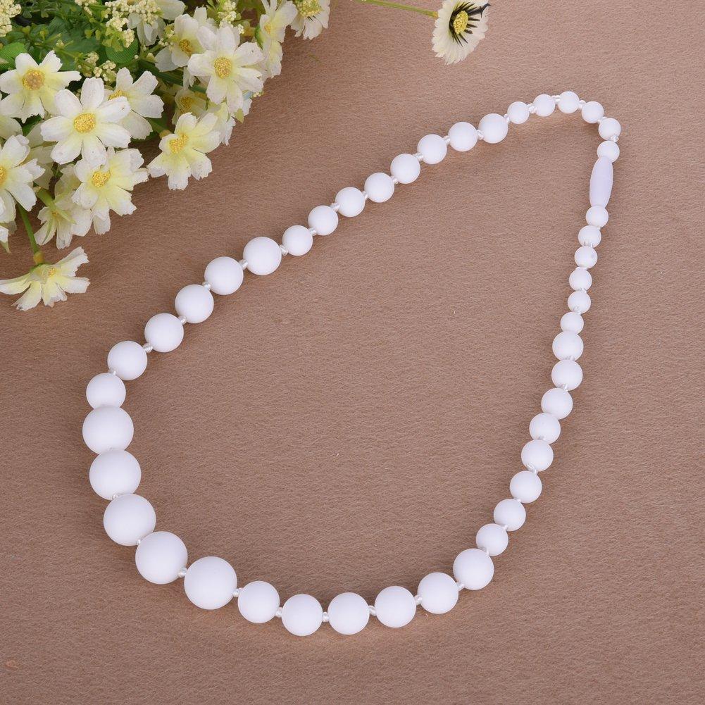 HimanJie Collier de dentition pour maman /à l/'usure et anneau de dentition Bracelet Silicone FDA l/'allaitement maternel Collier perles bijoux soins infirmiers