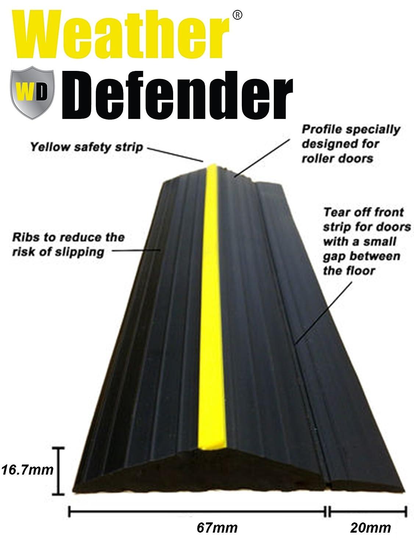 Weather Defender Heavy Duty 2.9m Garage Door Floor Seal Strip with Adhesive