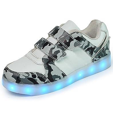 b6cafffdf4 DoGeek - Enfant Basket Lumière Lumineuse - Garçon Fille LED Chaussures- USB  Rechargeable Basket Mode