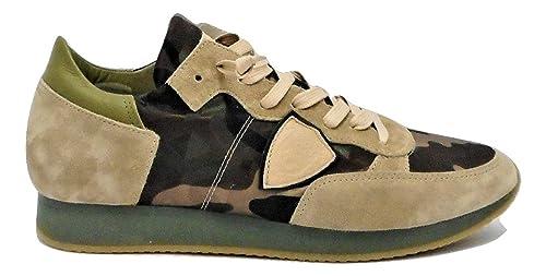 Philippe Model - Zapatillas de Piel para Hombre Camuflaje Uomo43 Size: 40 EU: Amazon.es: Zapatos y complementos