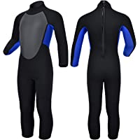Realon Kids Wetsuit Shorty Boys Girls 3mm Neoprene One Piece Thermal Swimsuit 2mm Warm Full Long Sleeve Wet Suits Cover…