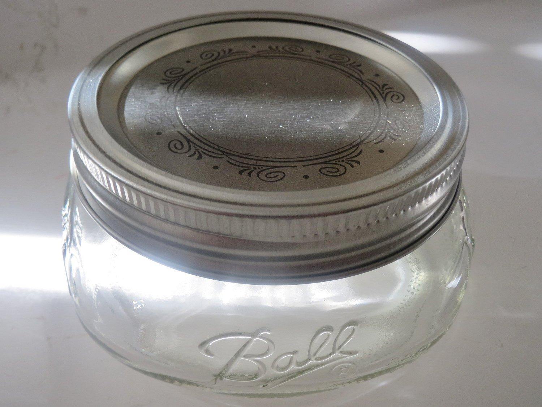 Mason Ball Jar-8 oz. Wide Mouth Squatty Collection Elite Series-Set of 4
