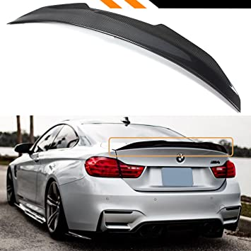 For BMW F82 M4 Coupe Carbon Fiber Rear Trunk Spoiler Wings Boot Lid  2014 UP