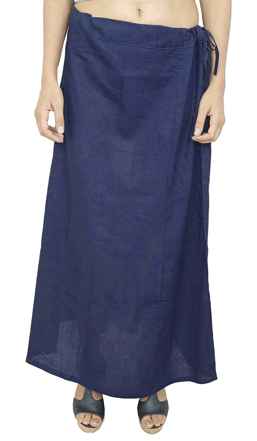 Bollywood Solid Petticoat Underskirt Indian Cotton Lining For Sari Ibaexports