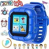 Juego Niños Smart Watch para Niñas Niños Regalos de Pascua con Cámara 1.5 '' Touch 10 Juegos Podómetro Reloj despertador Reloj Smartwatch Reloj de pulsera Monitor de salud (Azul)