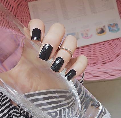 jovono Full postizas corto falso uñas brillantes para las ...
