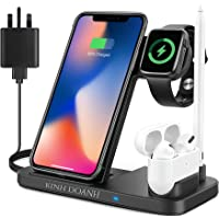 KINH DOANH Wireless Charger, 4 in 1 Qi-Certified Wireless Charging Station with Adapter for iphone 12, iphone 11…