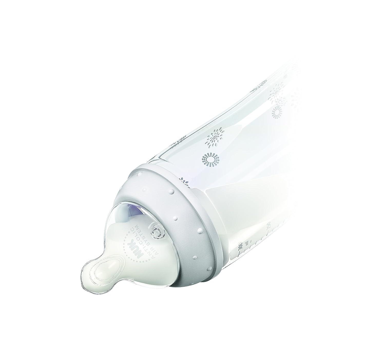 NUK First Choice+ Babyflasche mit Silikon-Trinksauger 300/ml Gr/ö/ße/0-6 Monate 3 St/ück