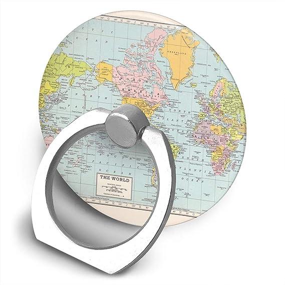 360 Degree World Map.Amazon Com World Map Vintage Bracket 360 Degree Swivel Creative