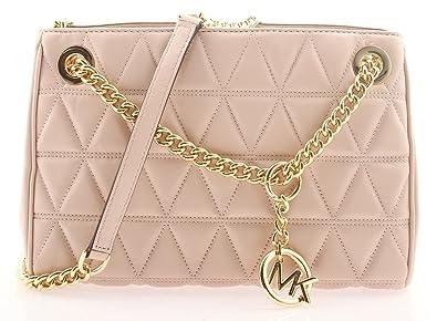2c80d9fb2e94 MICHAEL KORS Scarlett Quilted Leather Shoulder Bag in Soft PInk ...