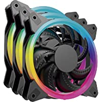 Kit 3 Ventiladores Ocelot Gaming de 120mm RGB con Multi Contacto para los Ventiladores y Control Remoto para Cambiar los…