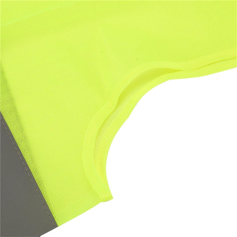 Gilet Haute visibilit/é Jaune r/éfl/échissant Lumiereholic Unisex CE Polyester Gilet Homologue XL Vestes et Gilets Haute visibilit/é Assistance en Cas de Panne Veste de s/écurit/é Y434-2PC