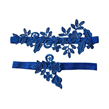 YuRongsxt Wedding Floral Garter Set Bridal Leaf Garter Bridal Garter Set G12