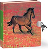 "Peaceable Kingdom Wild Horse 6.25"" Lock and Key, Lined Page Diary for Kids"